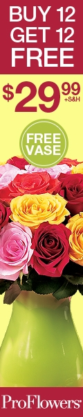 Buy 12 Roses Get 12 FREE w/ FREE vase at ProFlowers!