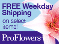 FREE Weekday Shipping on Select Items!