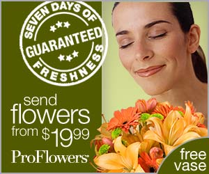 ProFlowers 300x250 Banner Guaranteed Fresh
