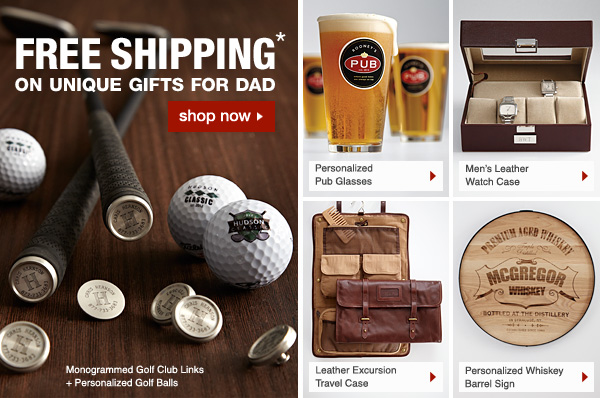 FREE Shipping* on unique gifts for dad - Shop Now