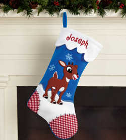 Rudolph Character Stockings