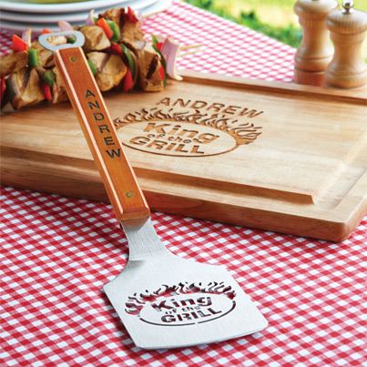 personalized cutting board and spatula