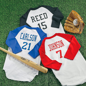 personalized kids baseball jerseys