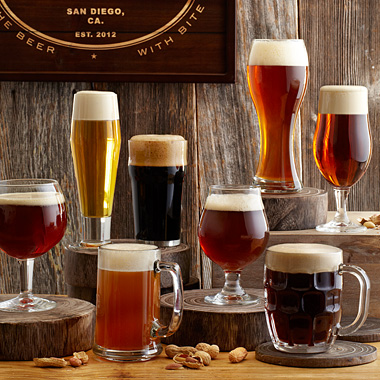 A different glass for each beer? Absolutely!