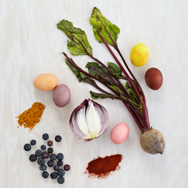 Natural dye for easter eggs