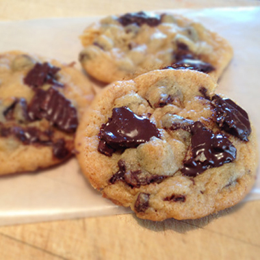 Chocolate covered potato chip cookies